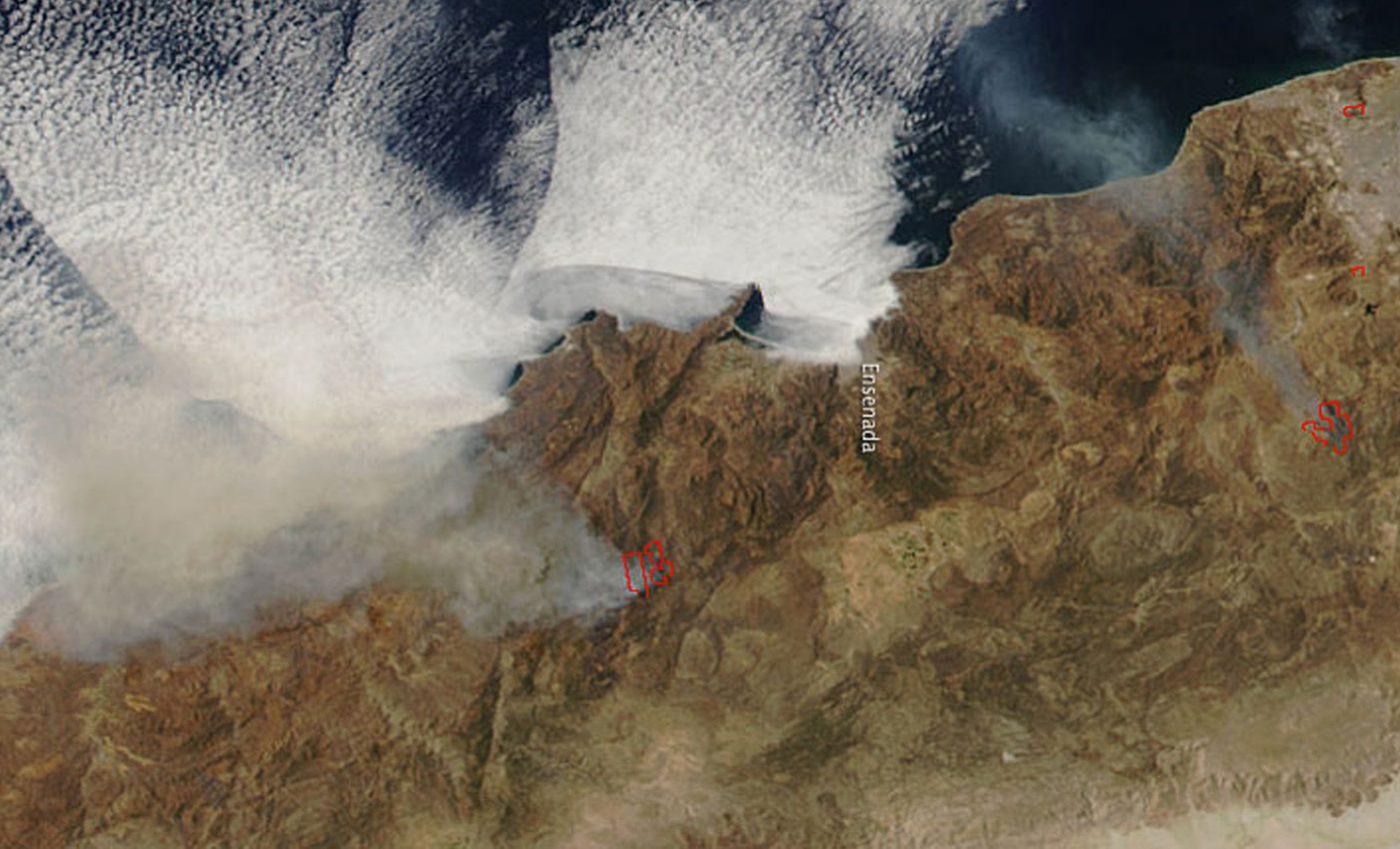 Fires in Baja California