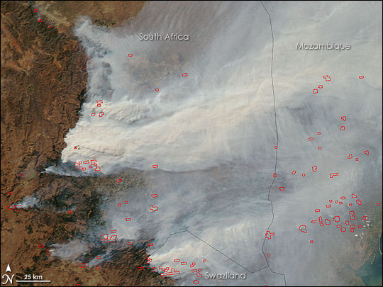 Fires in South Africa