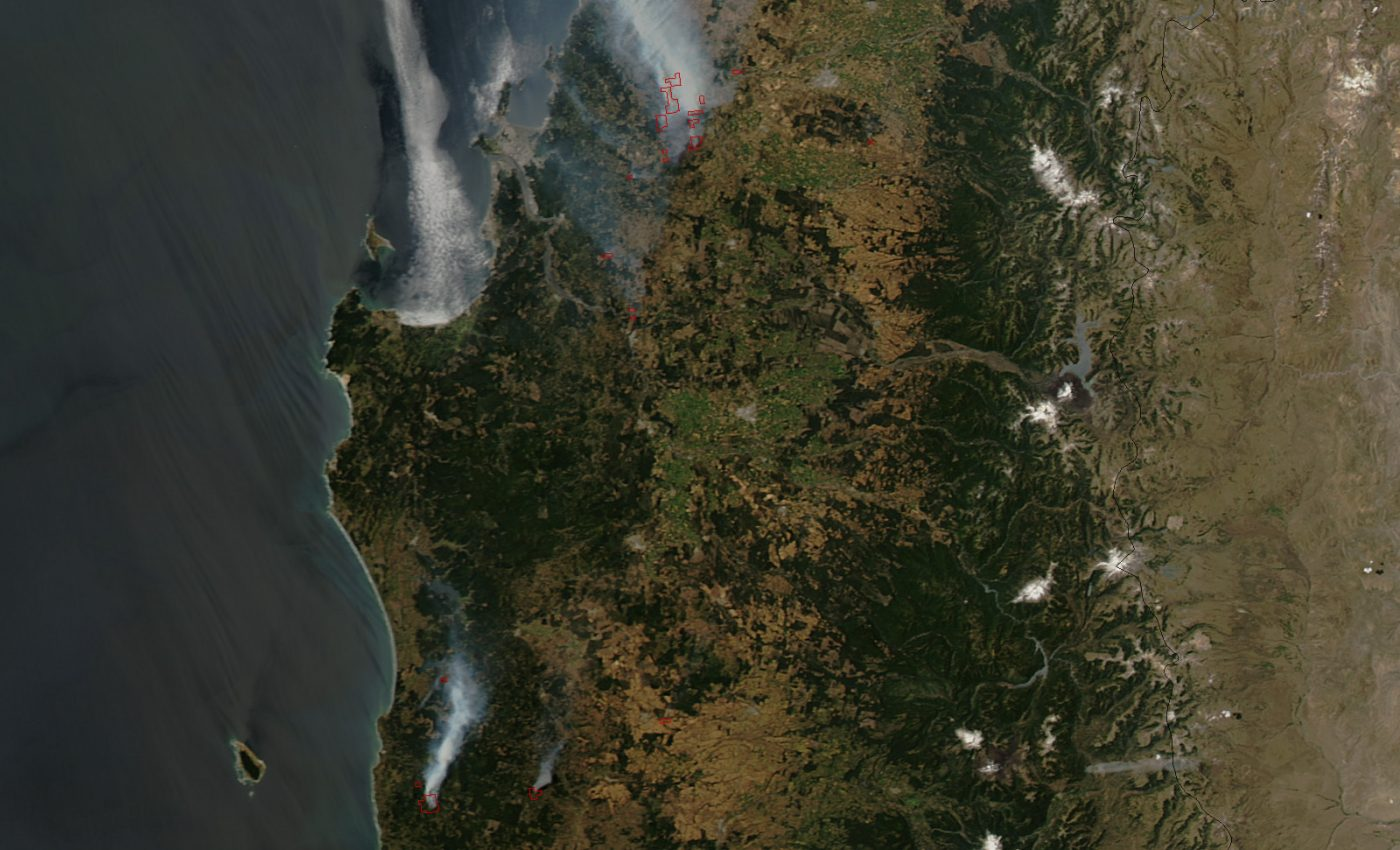 Wildfire in Bío-Bío, Chile