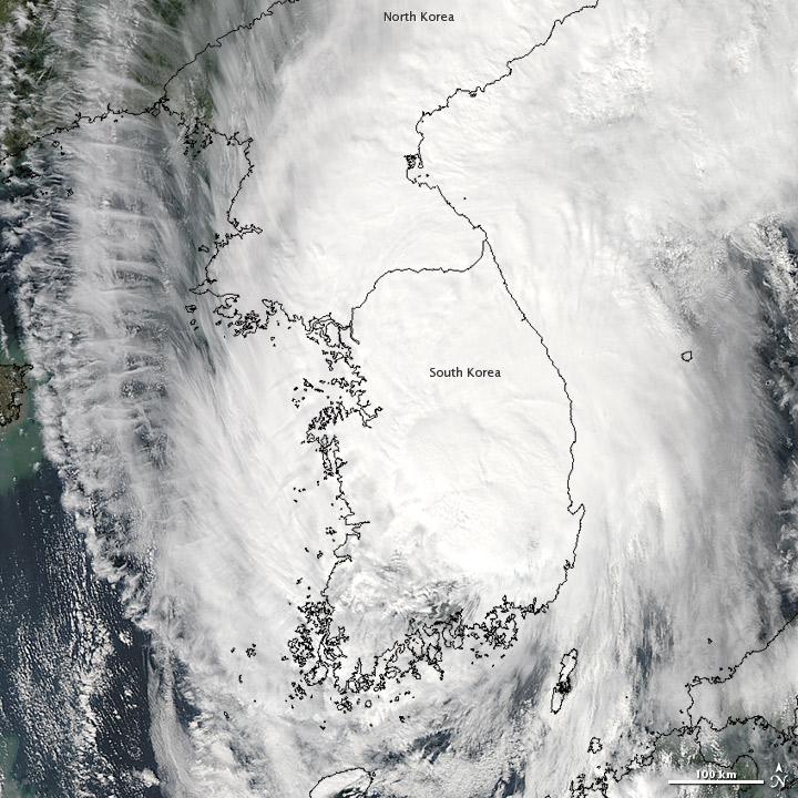 Sanba Over the Korean Peninsula