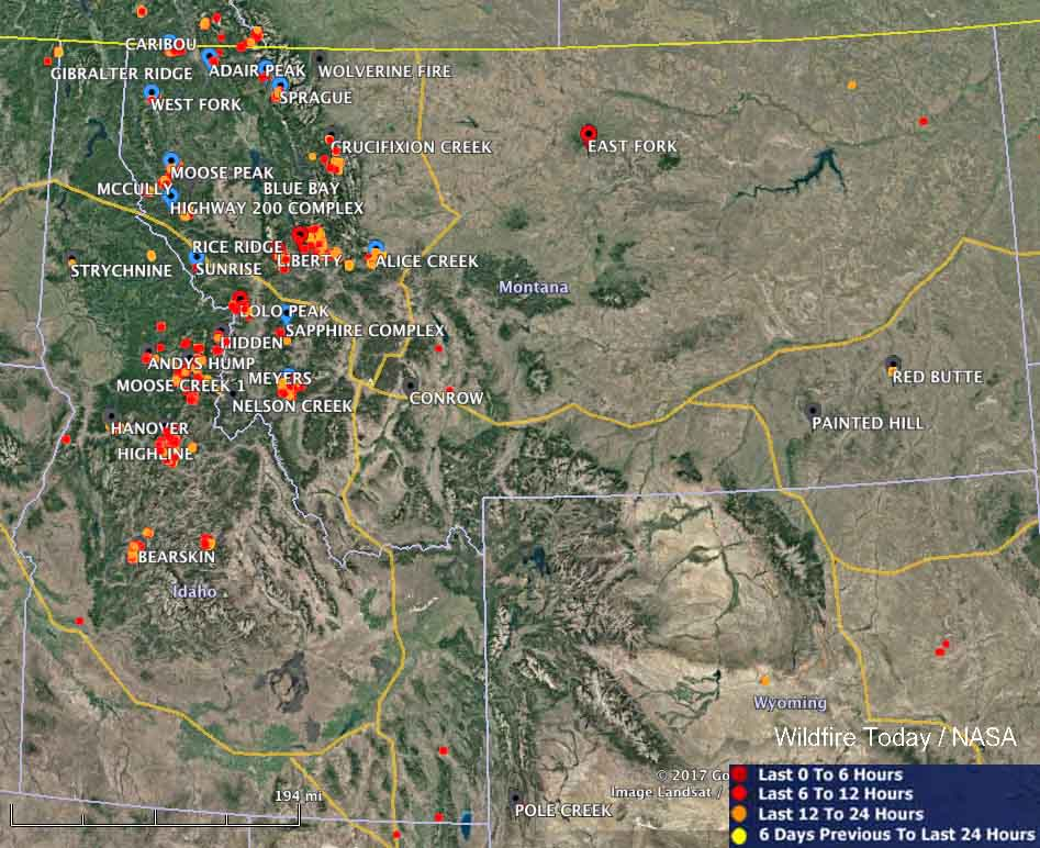 Wildfires in Idaho