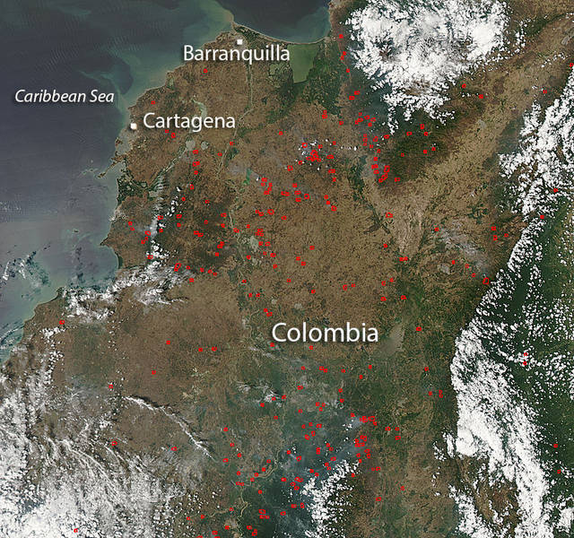 Fires in South America