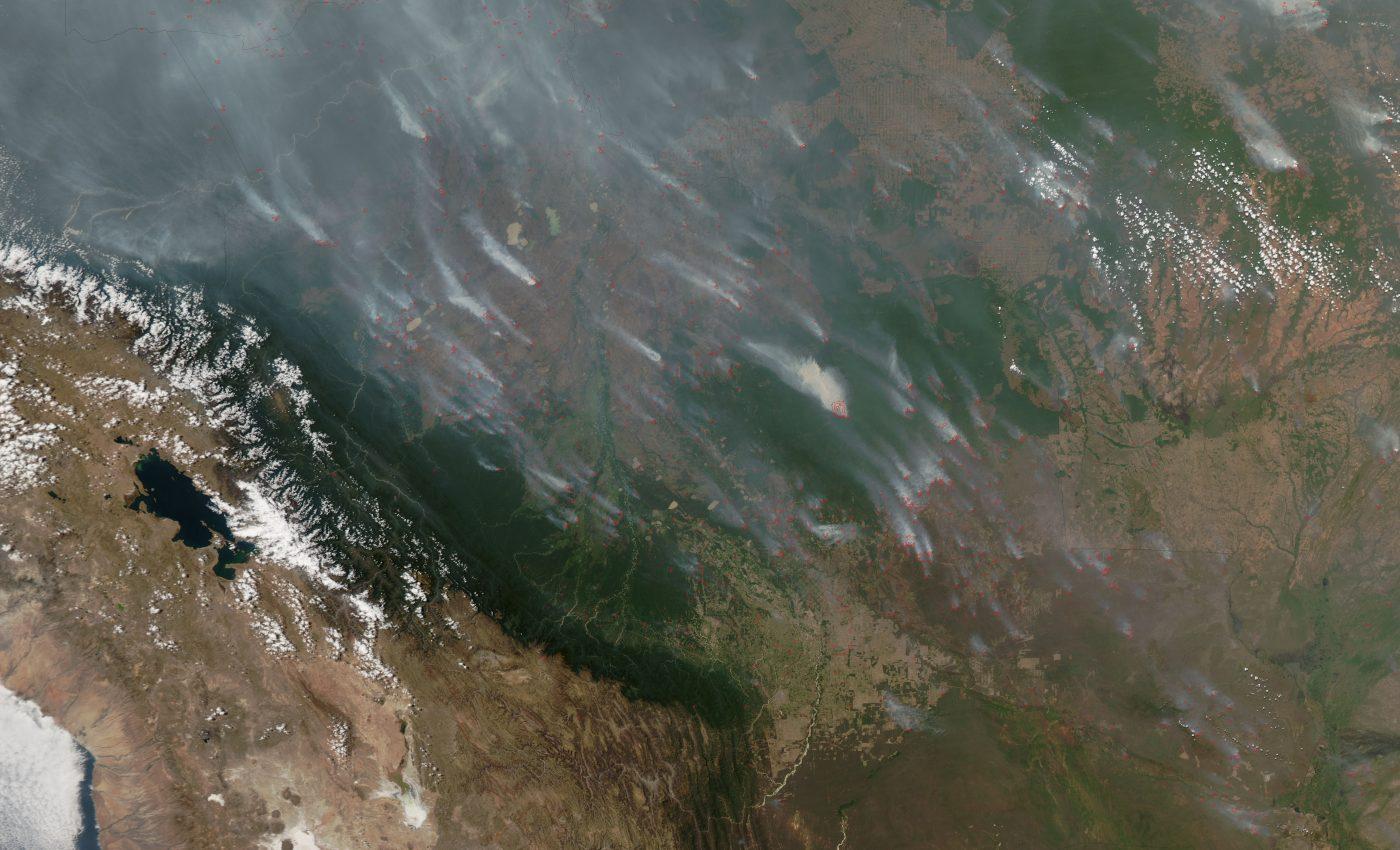 Fires in Santa Cruz, Bolivia