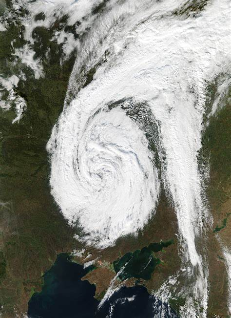 Low pressure System Over Eastern Europe