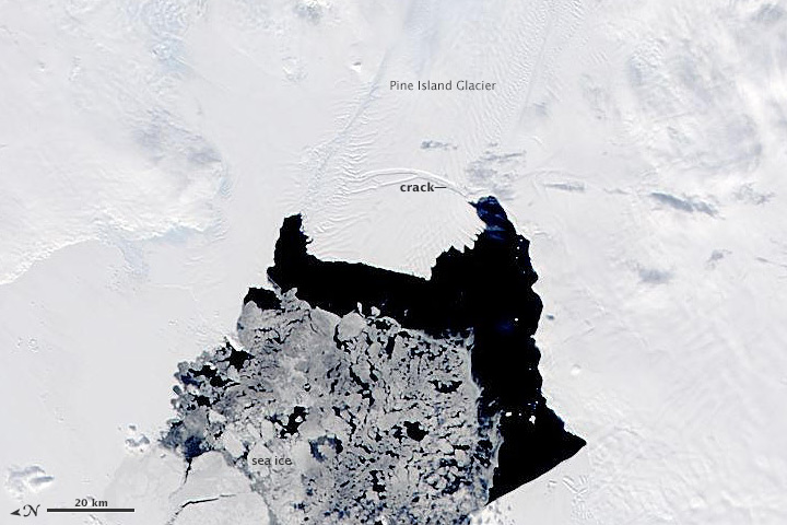 Pine Island Iceberg Breaking Loose