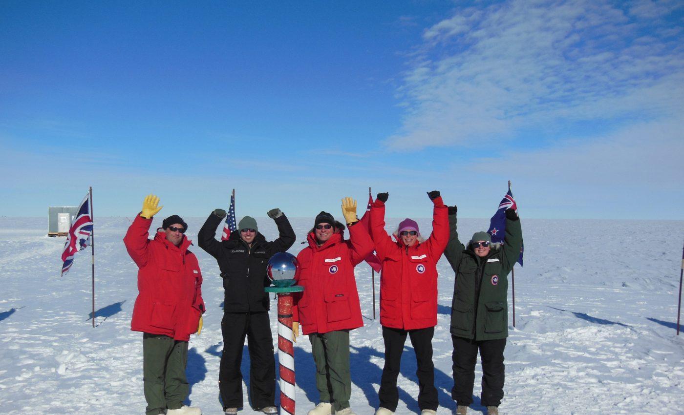 IceBridge Team Visits the South Pole