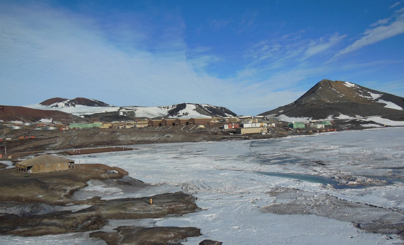 View of Mcmurdo Station from Hut Point
