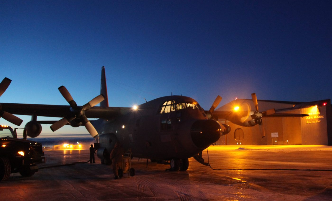 Prepping the C-130