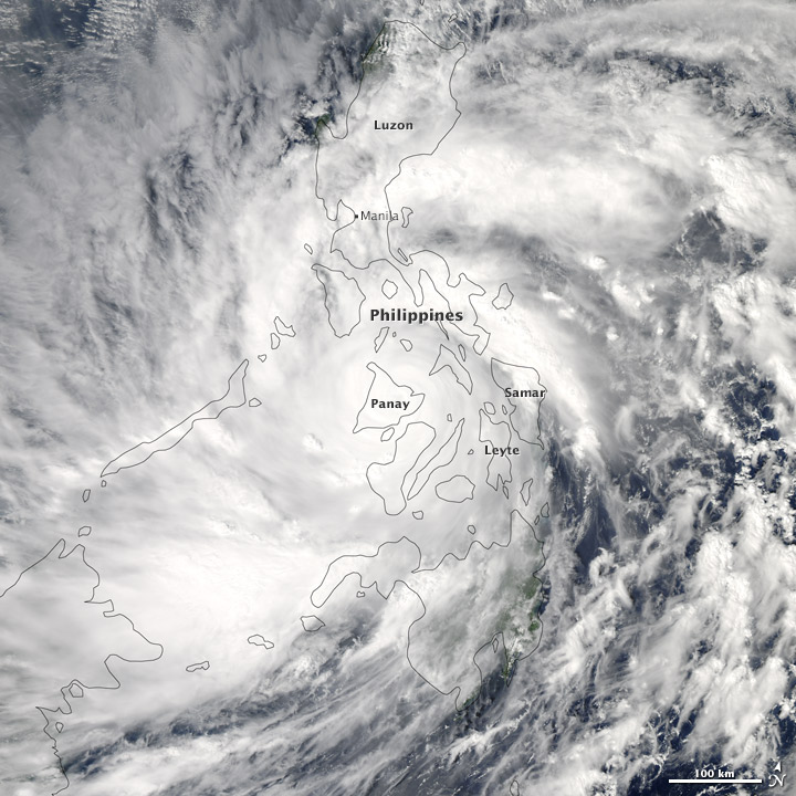 Super Typhoon Haiyan Surges Across the Philippines