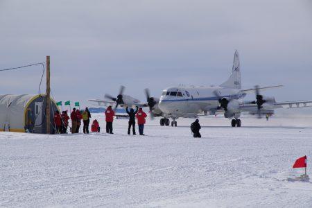 P-3B's First Landing in Antarctica