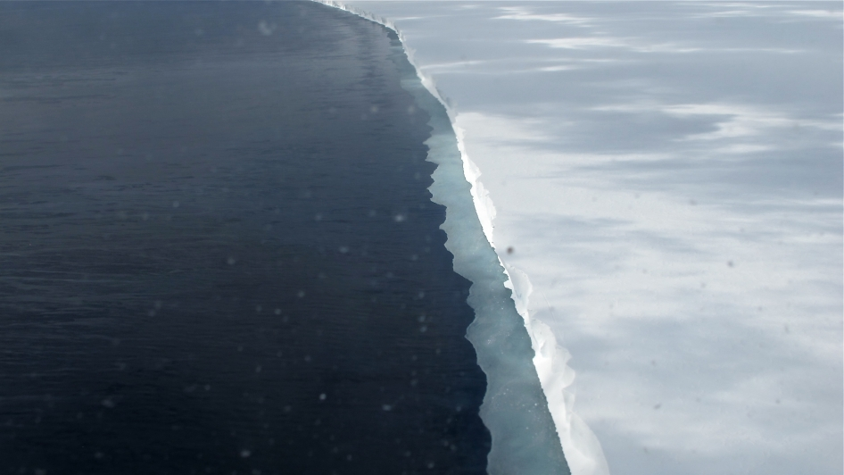 Edge of Ross Ice Shelf
