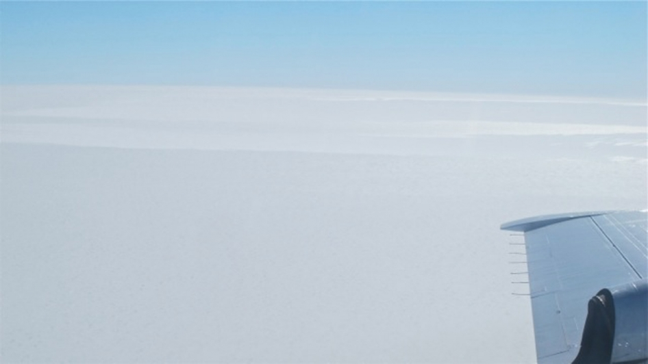 Flat Expanse of Antarctic Ice