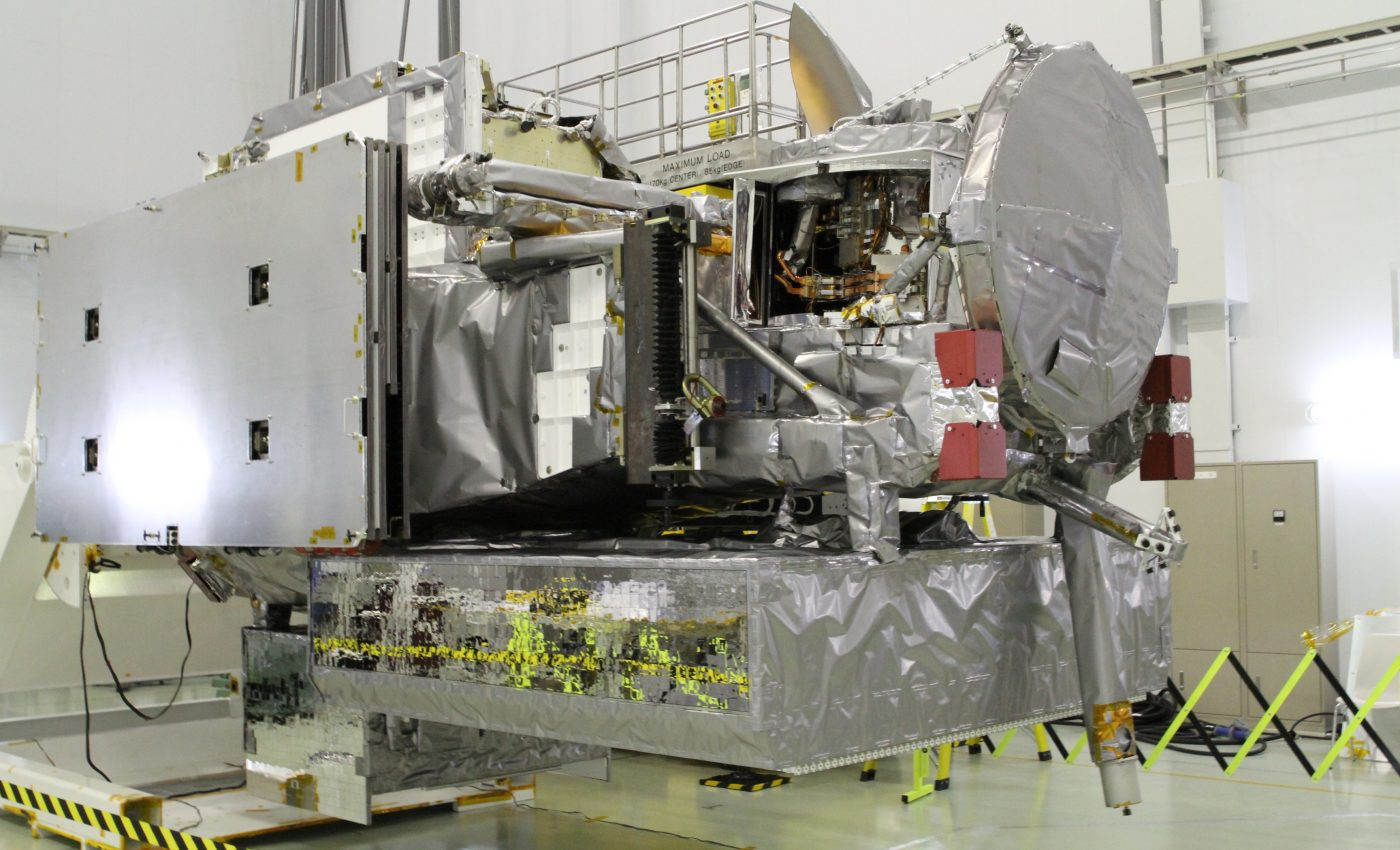 GPM Spacecraft Oriented for Inspections at JAXA