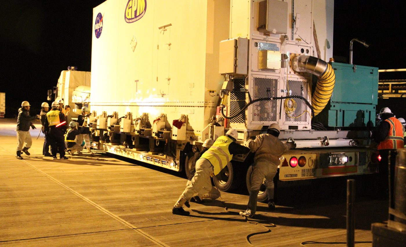 GPM Loaded onto Truck in Japan
