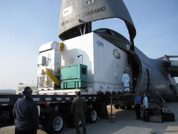 Unloading GPM's Shipping Container