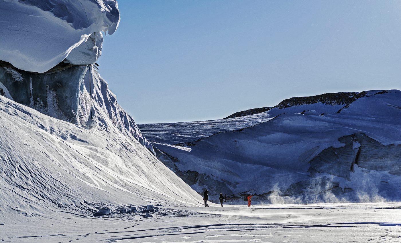 Ice Wall at Great Land Glacier