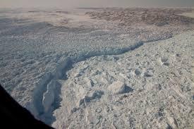 Calving Front of Jakobshavn Glacier in Greenland