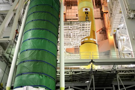 Attaching Solid Rocket Boosters to the HII-A Launch Vehicle