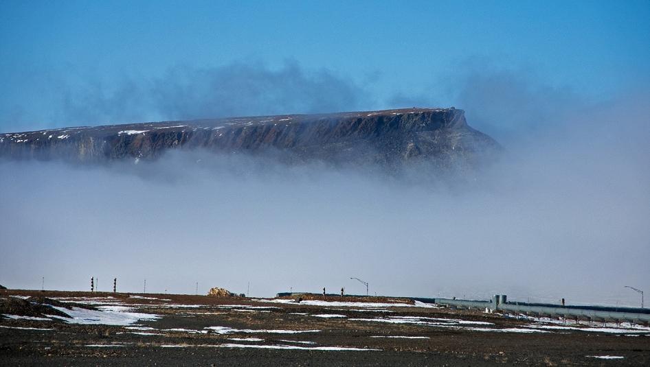 Fog on Mount Dundas