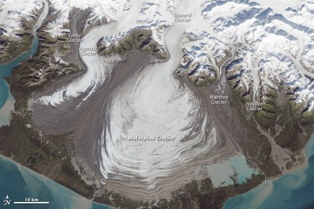Malaspina Glacier seen from space