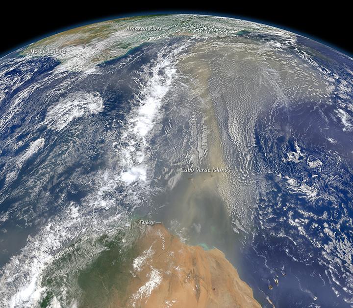 Saharan Desert Dust On The Move