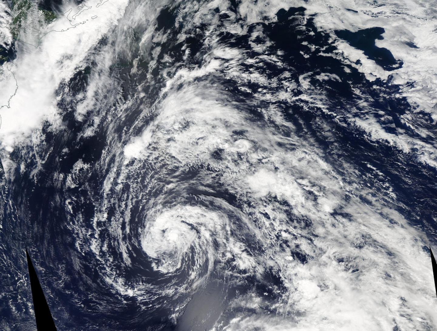 Tropical Storm 12W forms over the Northwestern Pacific Ocean