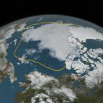 Arctic sea ice minimum, 2016