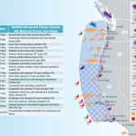 A map showing impacts of the 2015 West Coast toxic algal bloom.