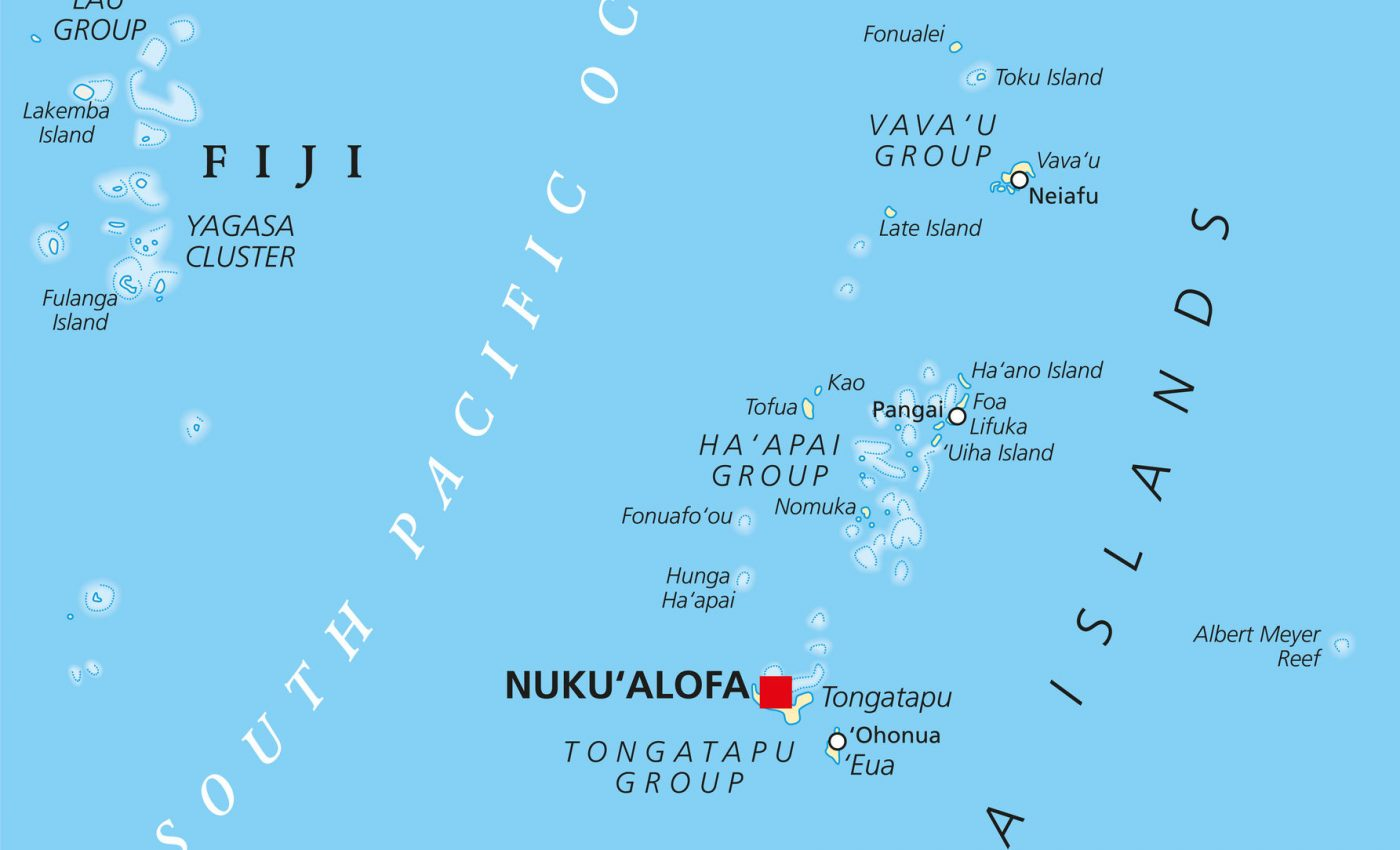 The Kingdom of Tonga archipelago
