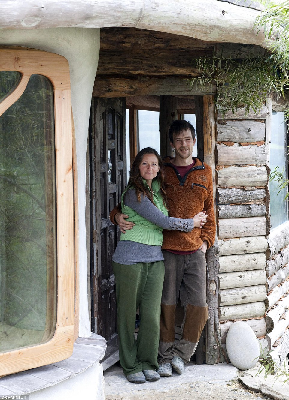 Sustainable home built in eco-community. A British prime-time TV show explores a family's relocation to a pioneering village in Wales.