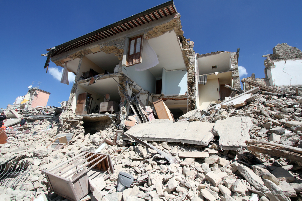 IImages of devastation caused by the August quake were mirrored when a Central Italy earthquake created chaos yesterday.