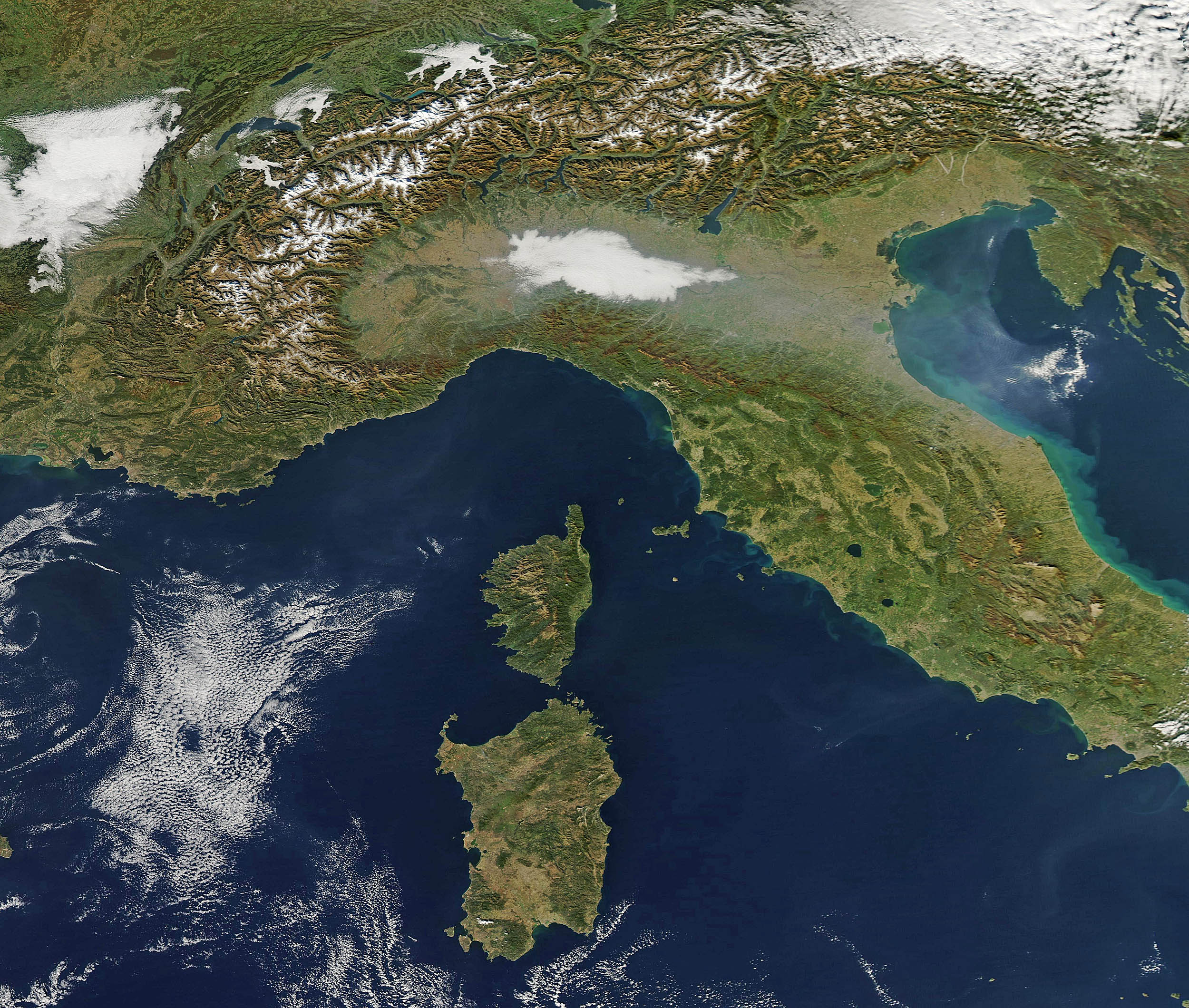 Southern Europe in autumn
