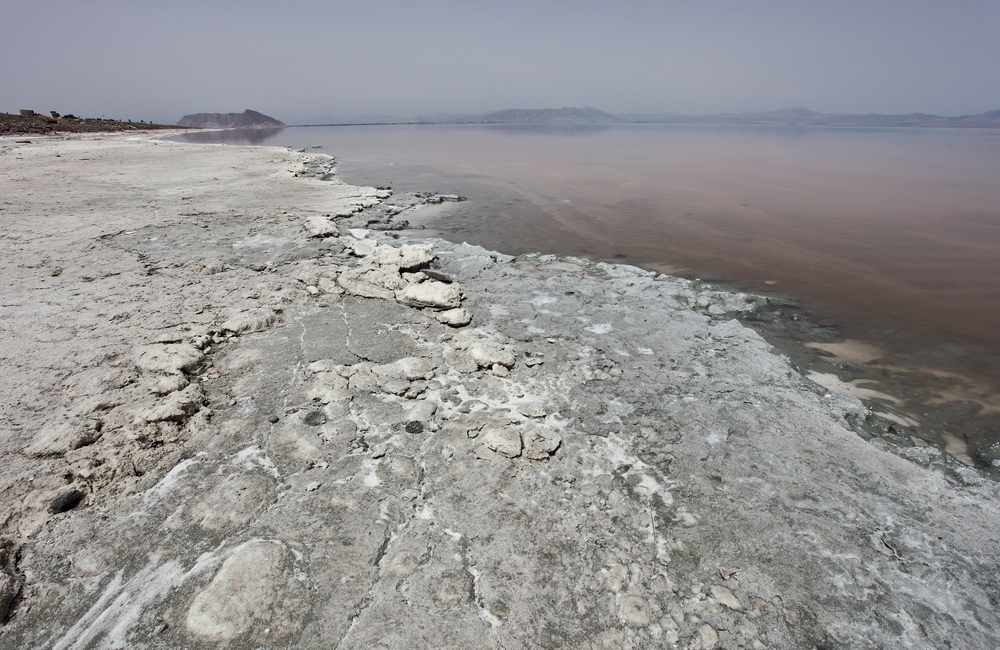Iran's Lake Urmia was once the second-largest hypersaline lake in the world, but it's shrunk by 80 percent in recent decades.