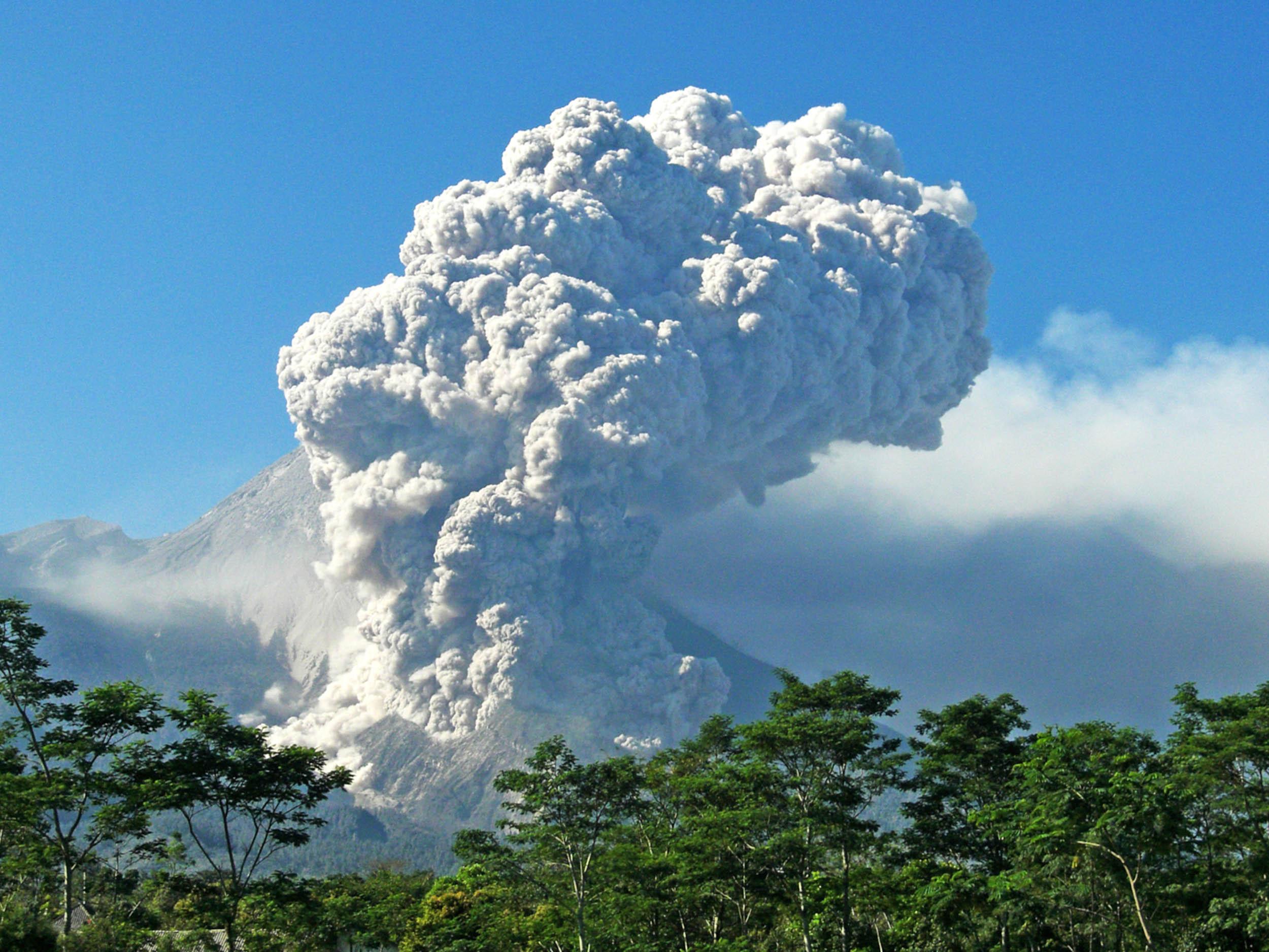 Volcanic eruptions on Java Island, Indonesia
