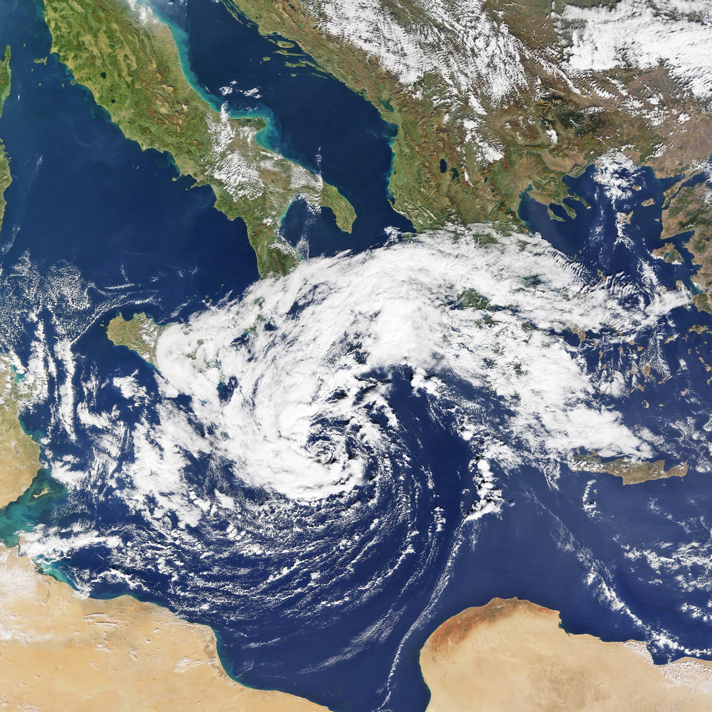 90M storm in the Mediterranean Sea
