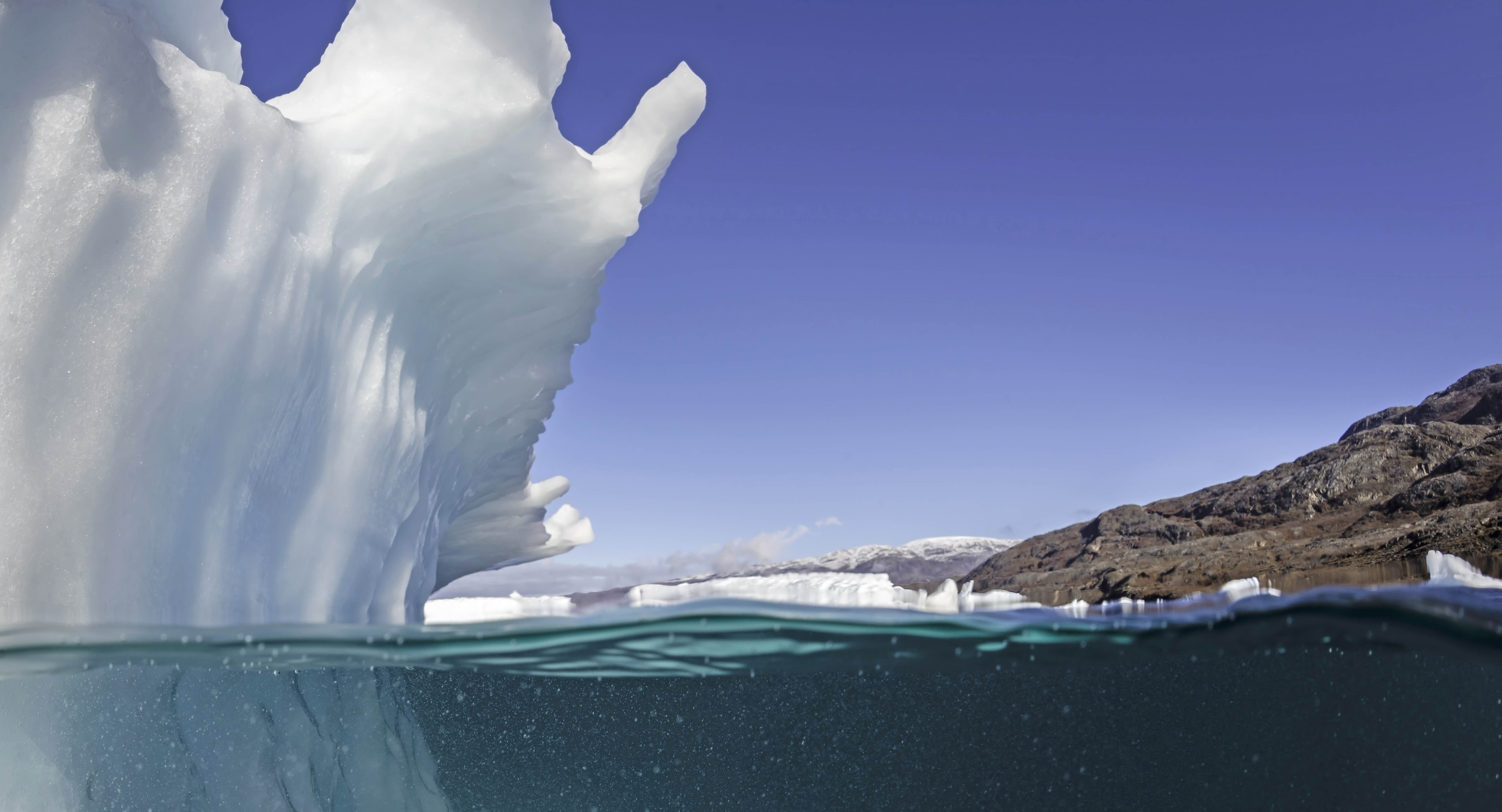 Iceberg in a Greenland Fjords