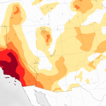 California drought intensity
