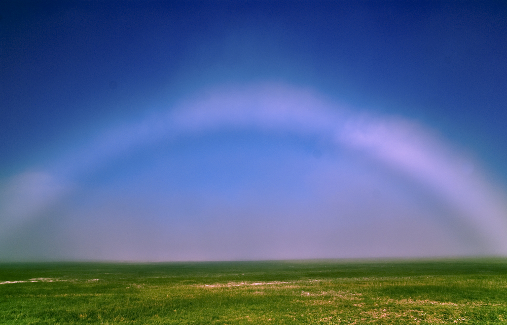 "While traipsing across Rannoch Moor in Scotland on Sunday, Melvin Nicholson saw a rare sight: a ""fog bow."""