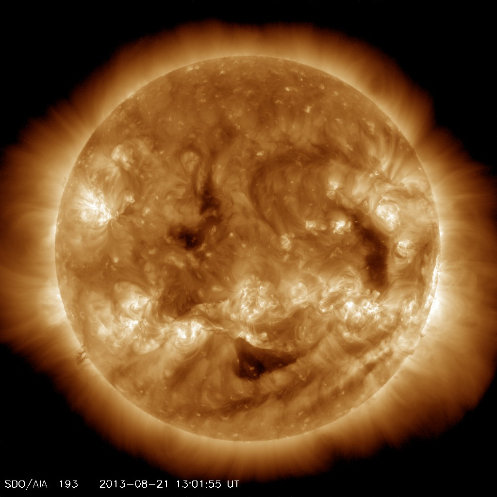 NASA released these images of a smiling sun on Friday. Published by the Solar Dynamics Observatory