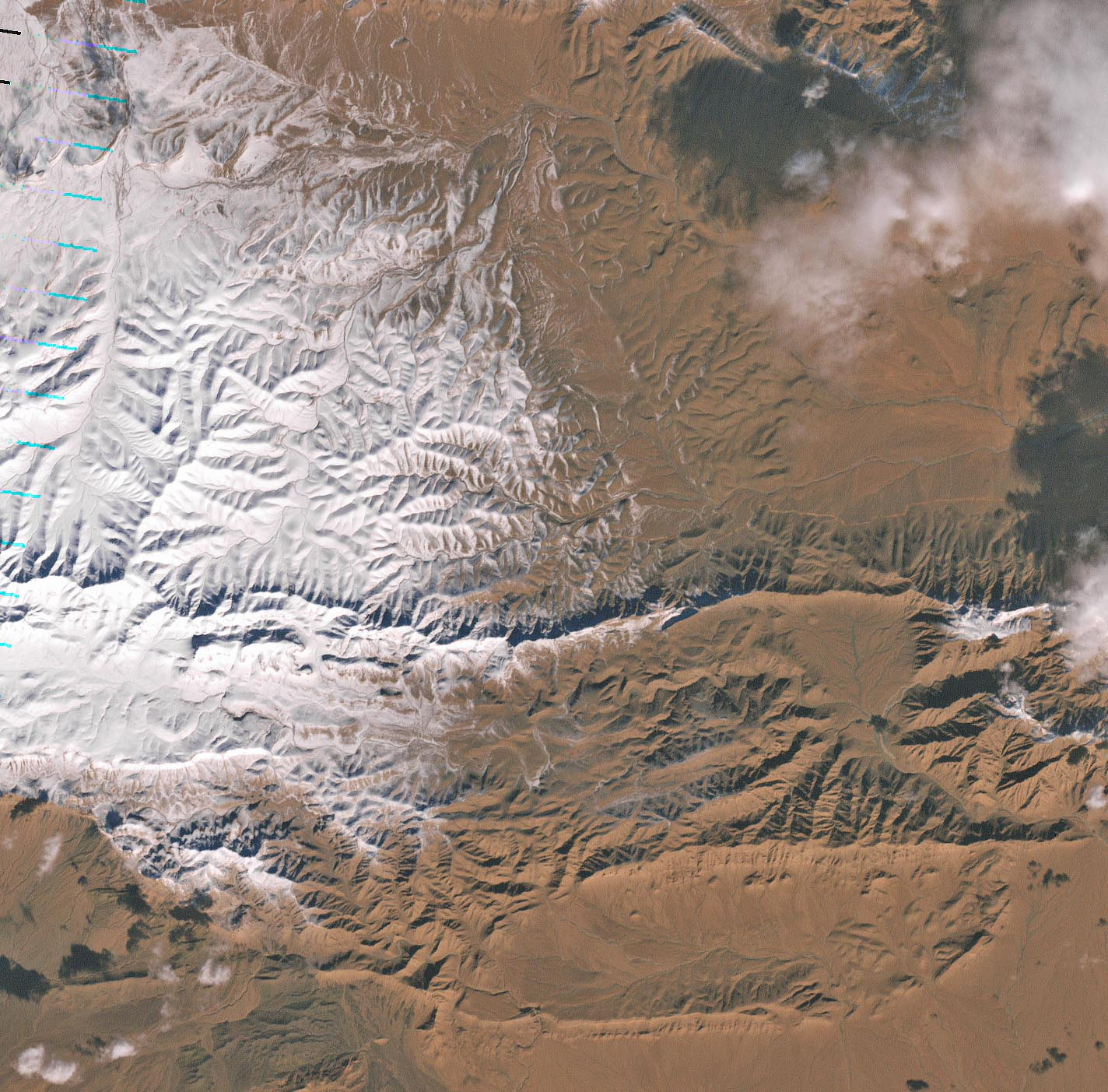 Snow in Ain Sefra, Africa