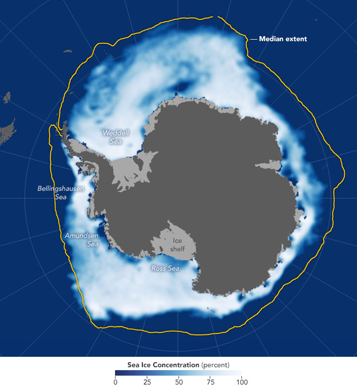 Antarctica sea ice reached a record low in November