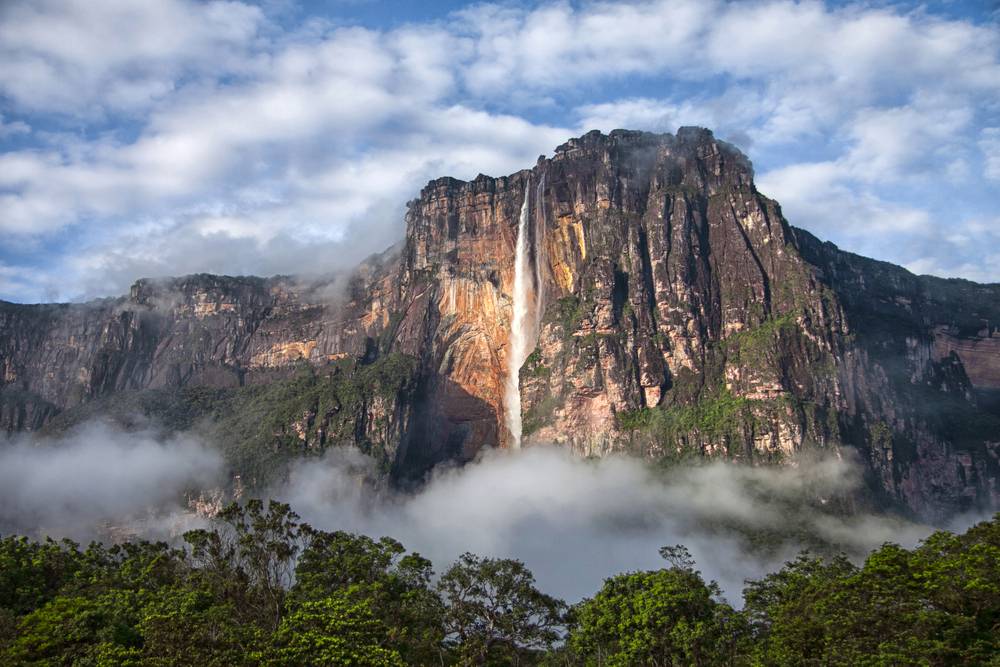 Angel Falls in Venezuela is the highest waterfall on Earth.