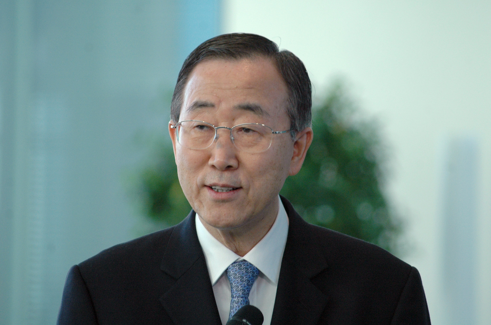 Secretary-General of the United Nations Ban Ki-Moon attends a meeting with the German Chancellor in Berlin in 2006. Ban has pointed to climate change action as one of the legacies he is proud to leave the United Nations.