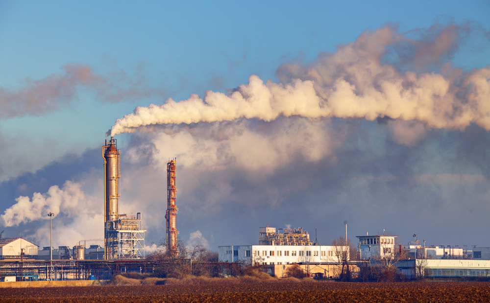 "Smoke pours from a power plant. The Center for Public Integrity has released a list calling some U.S. power plants ""super-polluters."""