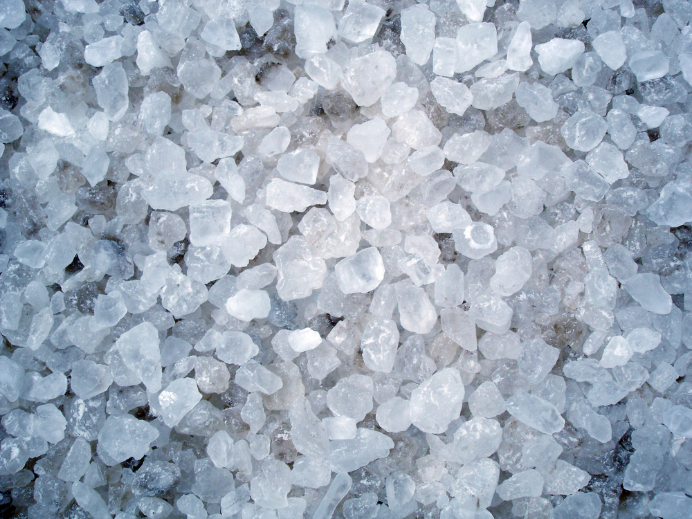 Salt can make icy sidewalks less slippery. It can also damage soil when melting snow washes it away.