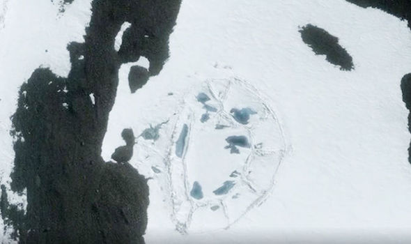 Today's Image Of The Day from Google Earth shows what appears to be ancient fort buried beneath snow and ice in Antarctica.