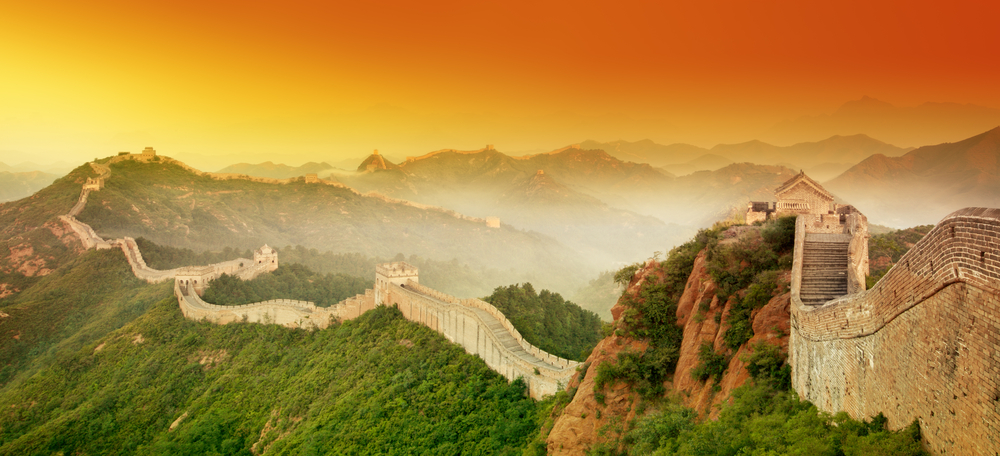 The Great Wall of China spans over 13,000 miles in length. It is estimated that over 70,000 tourists visit the wall each day.