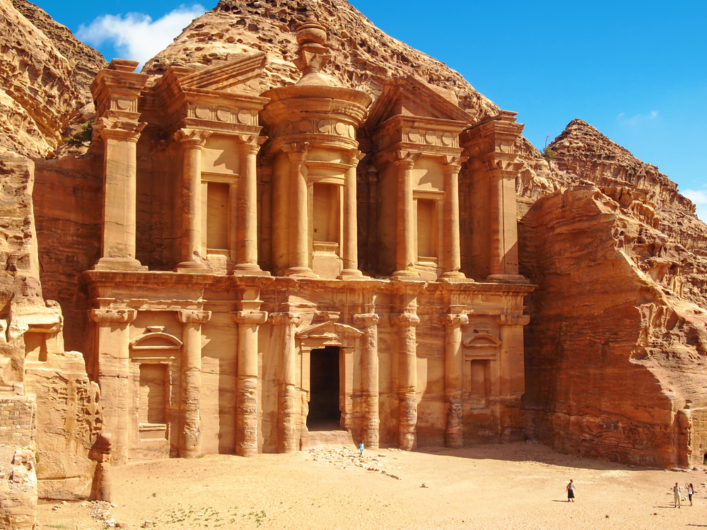 Petra, one of the New7Wonders, is also known as The Rose City, a reference to the rich color of the stone out of which the city was carved.