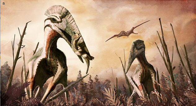 Researchers have discovered the fossil of a massive ancient flying reptile believed to have belonged to a species called Hatzegopteryx.
