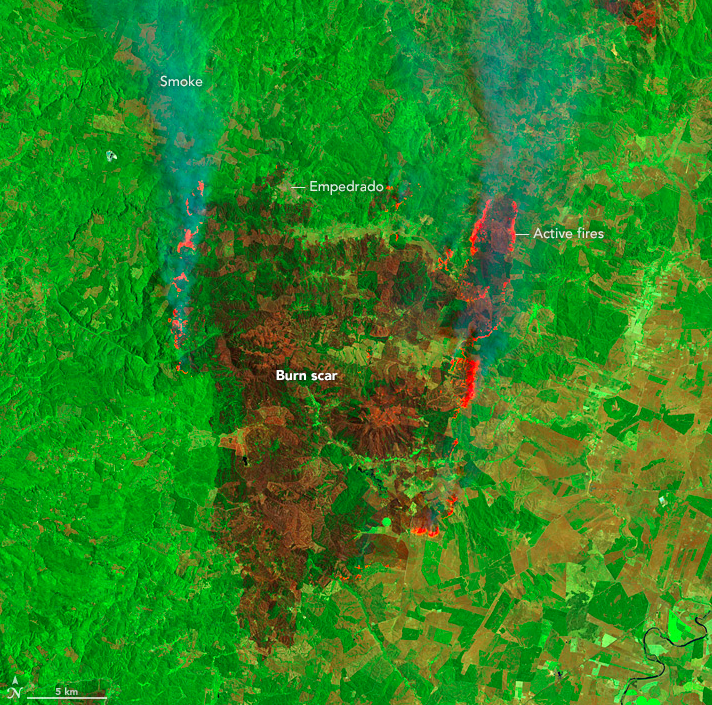Today's Image of the Day comes thanks to the NASA Earth Observatory and features the devastating Chile wildfires that have been ravaging the country.